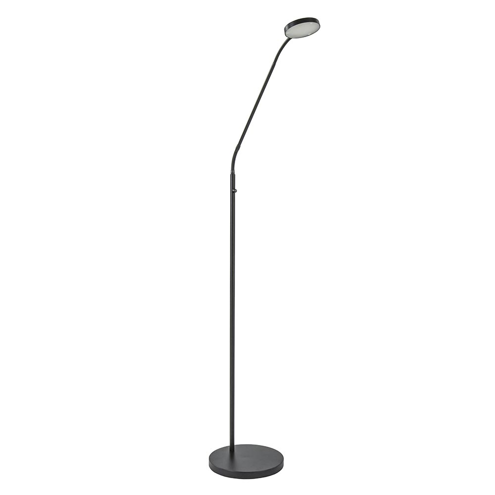 Zwarte LED leeslamp met dim to warm functie