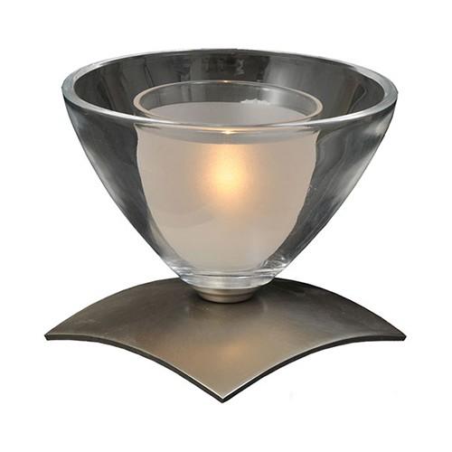 Moderne tafellamp Caterina nikkel