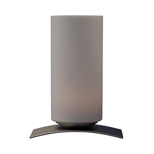 *Moderne tafellamp Oblica zuil nikkel