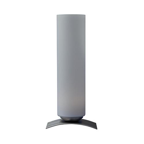 Moderne tafellamp Oblica zuil nikkel