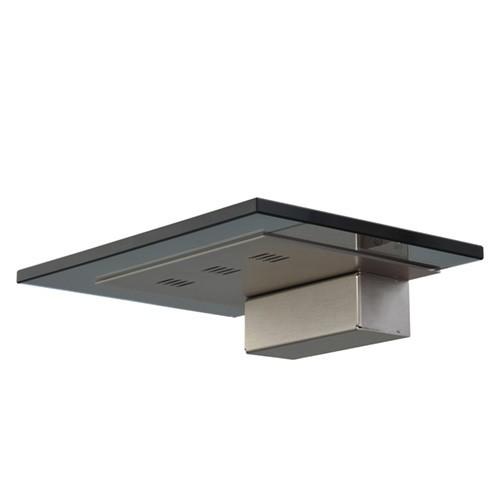 Moderne wandlamp zwart glas met nikkel
