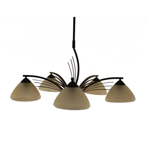 *Klassieke hanglamp rond eettafel bruin
