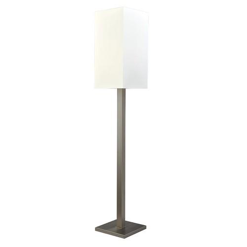 *Vloerlamp Milos nikkel met witte kap