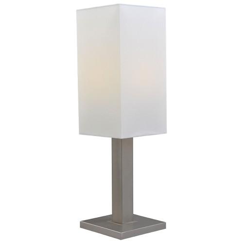 *Tafellamp Milos nikkel met witte kap