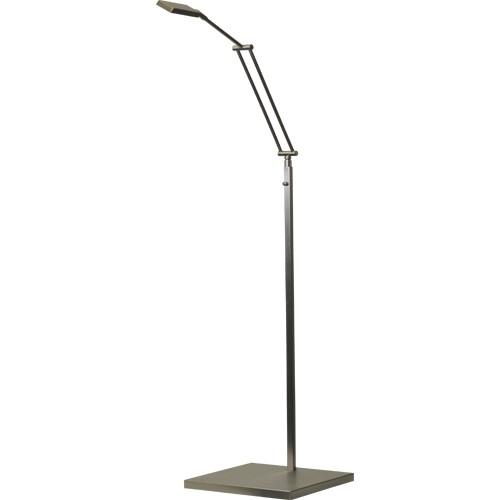 ** Leeslamp staand LED Denia nikkel