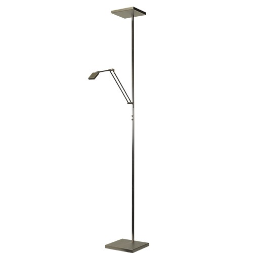 Vloerlamp/uplighter LED Denia dimbaar