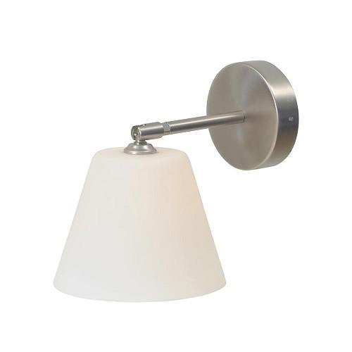 Wandlamp Calabro nikkel met dimmer