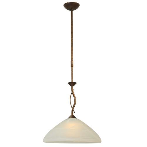Klassieke hanglamp brons/bruin keuken