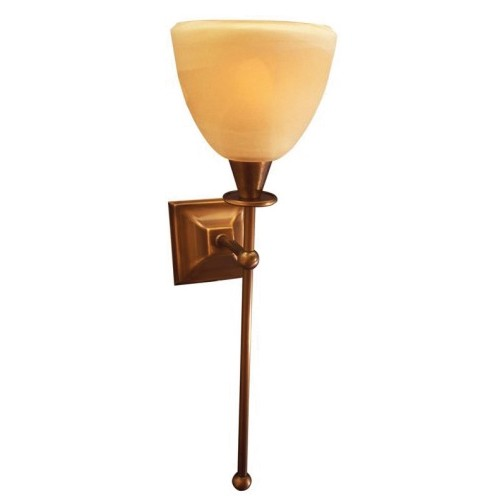*Klassieke wandlamp toorts brons Ogiva