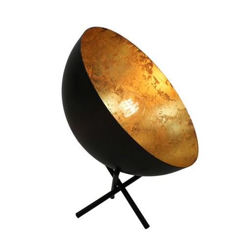 **Koepel tafellamp binnenkant goud