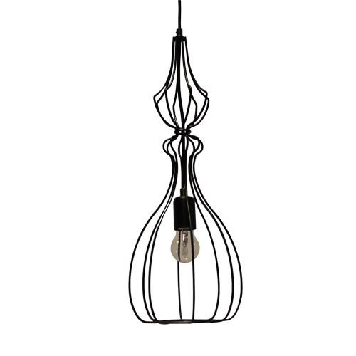 gekooide hanglamp draad zwart keuken straluma
