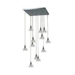 *Vide hanglamp Caterina nikkel met glas