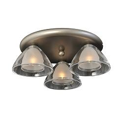 *Plafondlamp Caterina rond nikkel glas