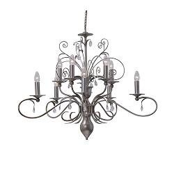 *Hanglamp kroon Moskow pegels van glas