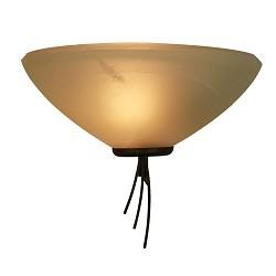 *Klassieke wandlamp smeed-bruin woonkam