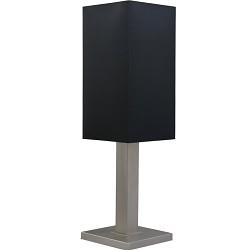 *Tafellamp Milos nikkel met zwarte kap