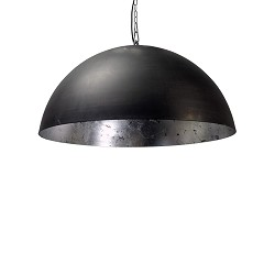 Hanglamp koepel 60cm gunmetal/silverleaf