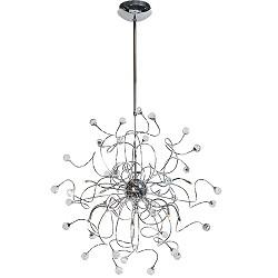 Hanglamp woon/slaapkamer chroom kris