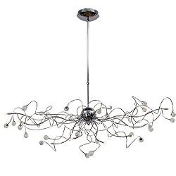 **Romantische hanglamp eettafel kristal