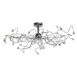 **Romantische plafondlamp chroom kristal