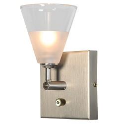 Design wandlamp Cono Led dimbaar nikkel