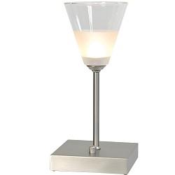 Tafellamp Cono Led nikkel dimbaar klein