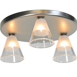 Strakke plafondlamp LED Cono nikkel