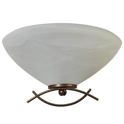 ** Klassieke wandlamp brons/bruin gang