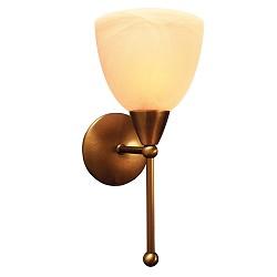 ** Klassieke wandlamp Ogiva brons gang