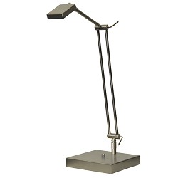 Bureaulamp Denia nikkel verstelbaar
