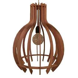 **Trendy houten hanglamp slaapkamer