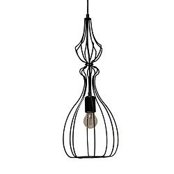 *Hanglampen draadkap zwart keuken-bar-wc