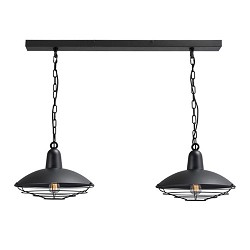 *Industriele hanglamp 2 lichts eettafel