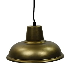 Kleine industriële hanglamp antiek brons