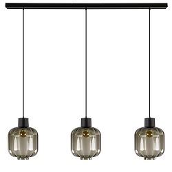 Glazen eettafelhanglamp zwart luxury