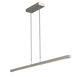 Hanglamp balk alu up+down 130cm pushdim