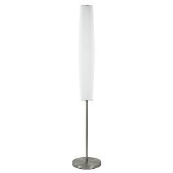 Design vloerlamp cilinder opaal glas met dimbaar LED