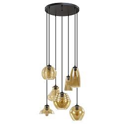Ronde hanglamp vide 7-L met amber glas