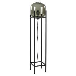 Moderne vloerlamp vierkant frame met smoke glas