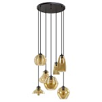 **Ronde hanglamp vide 7-L met amber glas