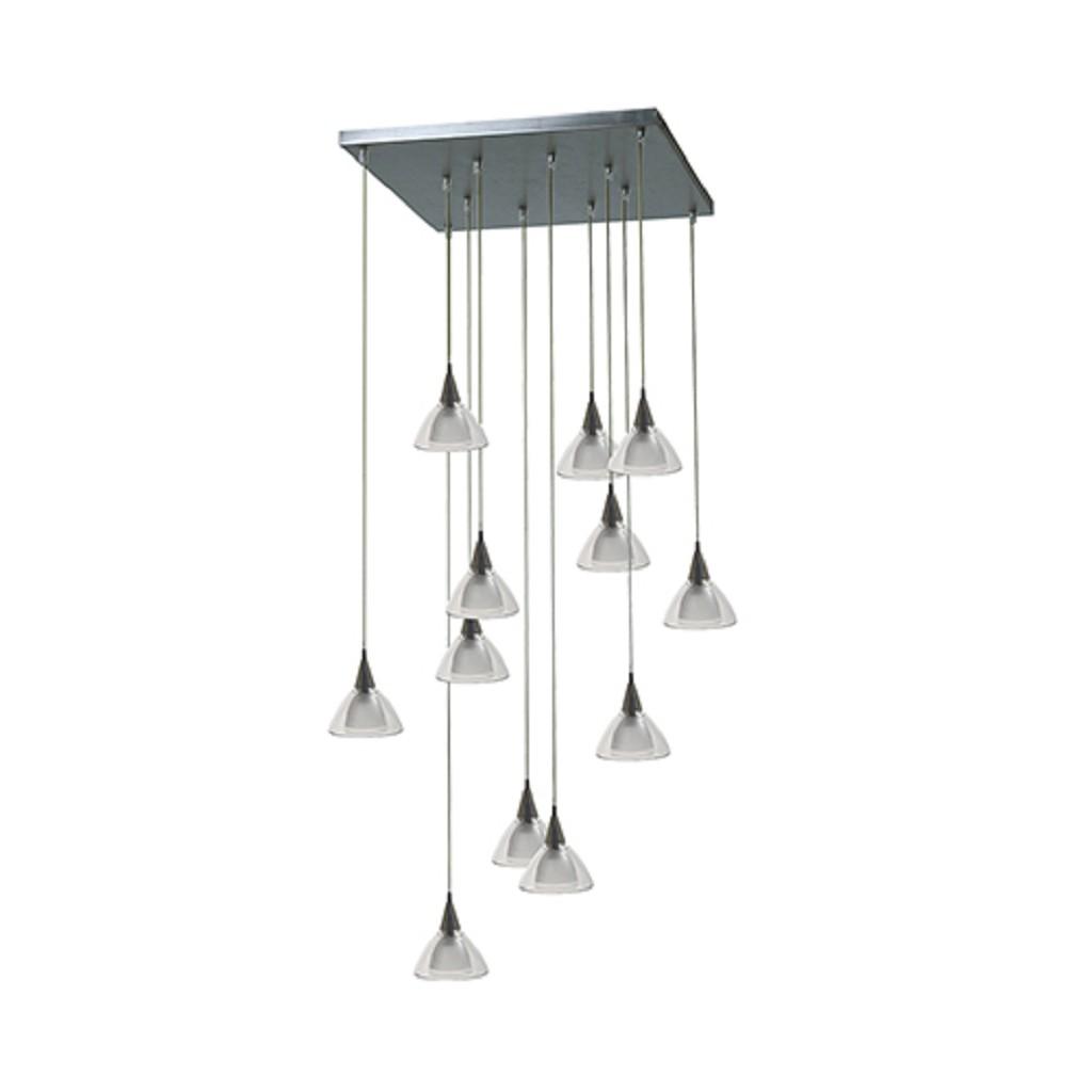 Vide hanglamp Caterina nikkel met glas