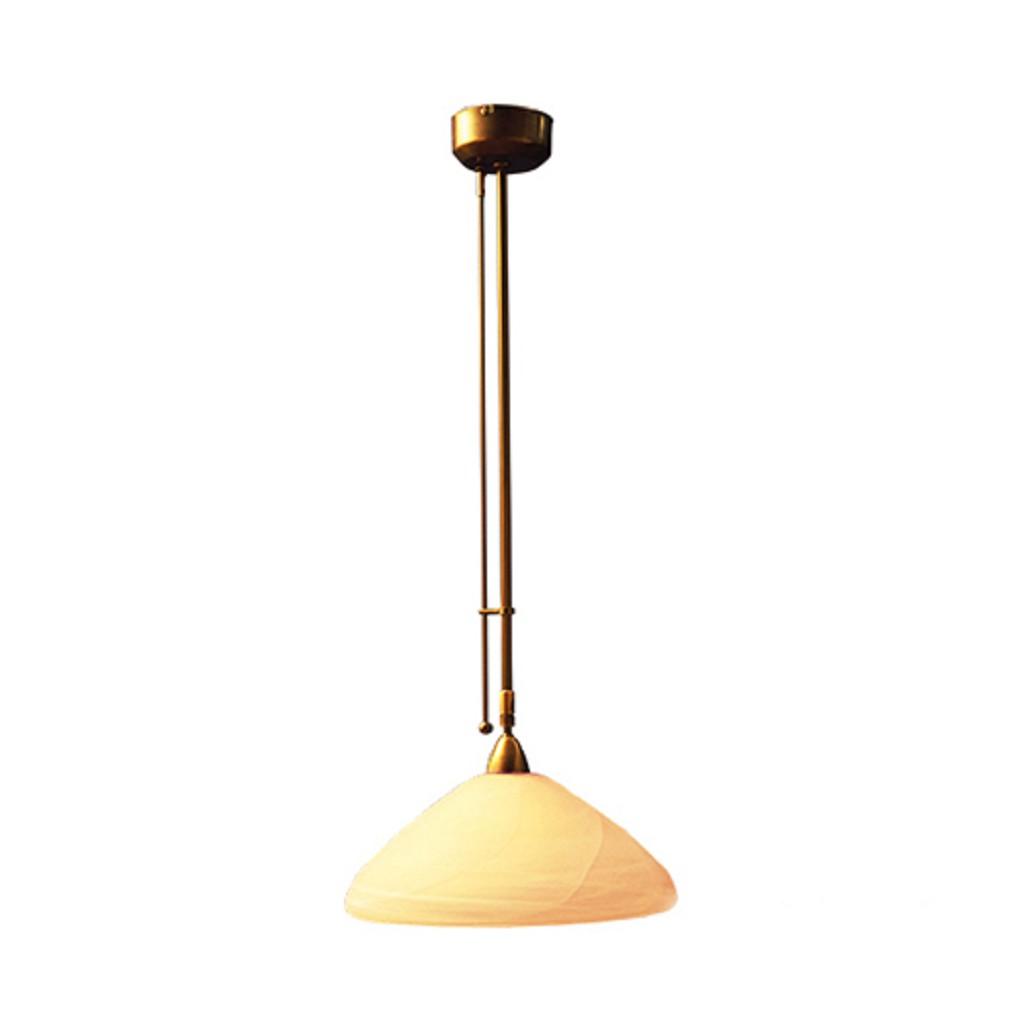 * Klassieke hanglamp brons met dimmer