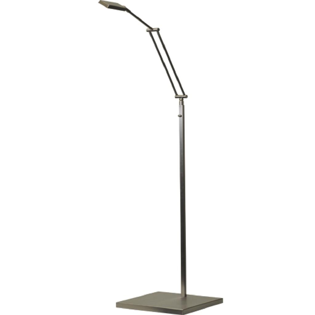 Leeslamp staand LED Denia nikkel