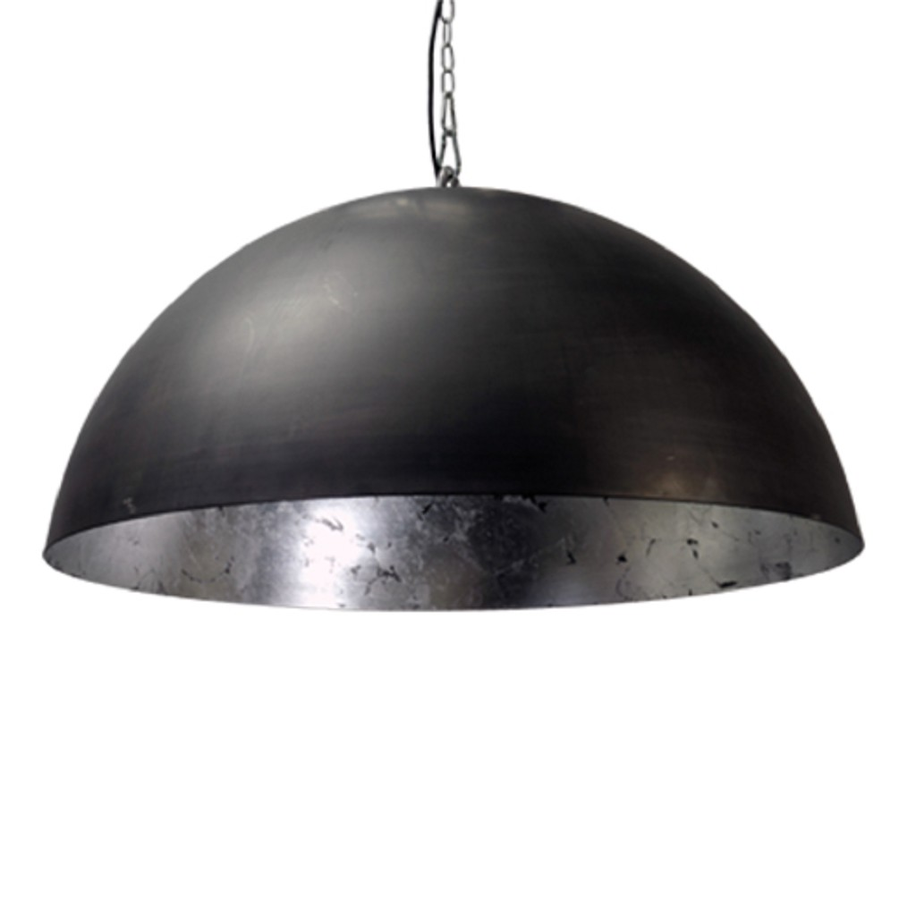 Hanglamp koepel binnenkant zilver