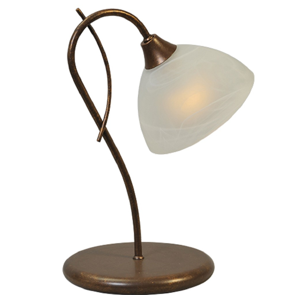*Klassieke tafellamp Latina bruin/brons