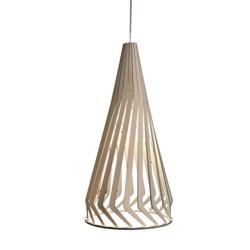 Houten hanglamp lamellen met twist