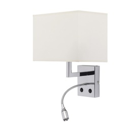Moderne wandlamp inclusief led leeslamp