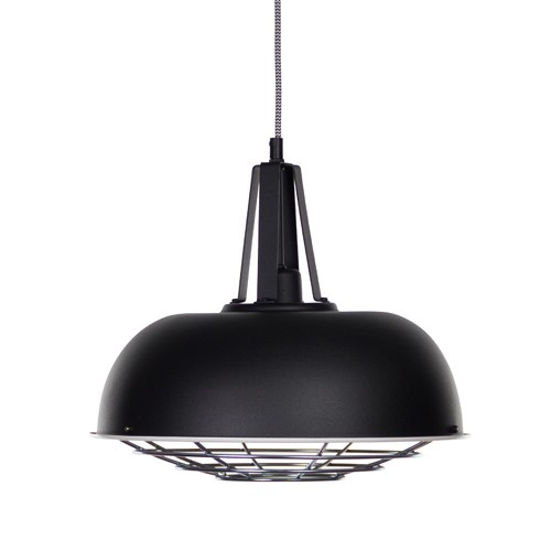 industrià le hanglamp zwart guard straluma