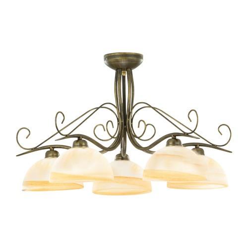Klassieke plafondlamp rond met glas