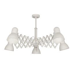 Verstelbare eettafel-plafondlamp wit